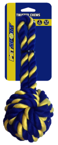 Braided Cotton Rope 28 cm Monkey Fist Large